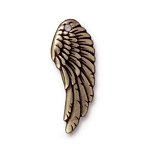 TierraCast Left Angel Wing Charm, Brass Ox